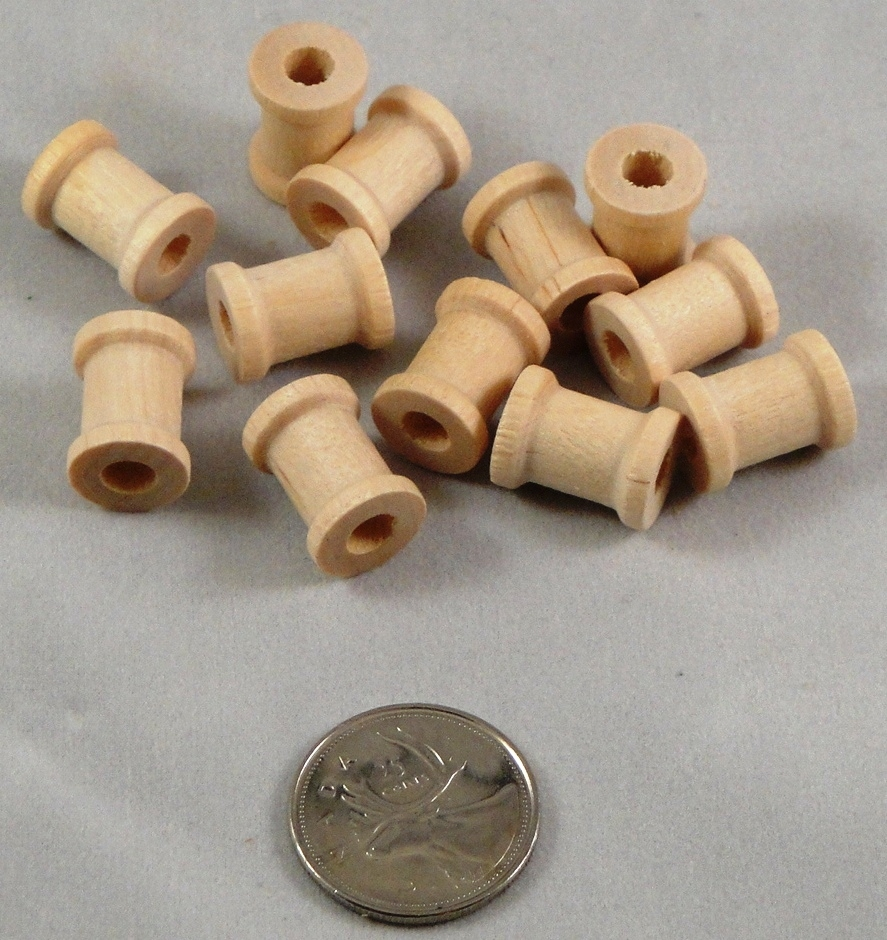 Wooden Spools - Natural - 5/8