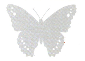 Butterfly Window Alert Decals - 4pc