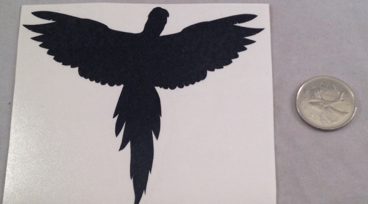 Flying Macaw Silhouette Decal