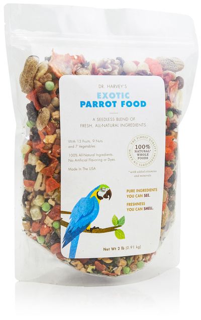 Exotic Parrot Food (No Seed) - Dr. Harvey's - 2lb