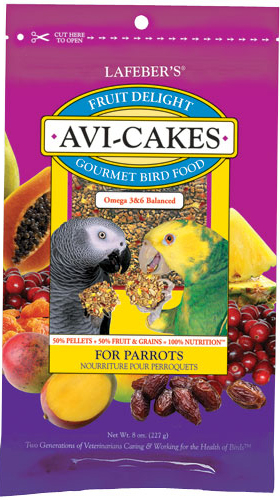 Fruit Delight Avi-Cakes - Parrot - 8oz