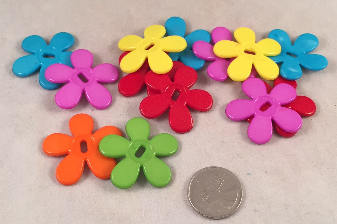 Gerber Daisy Buttons - Bright - 1.5