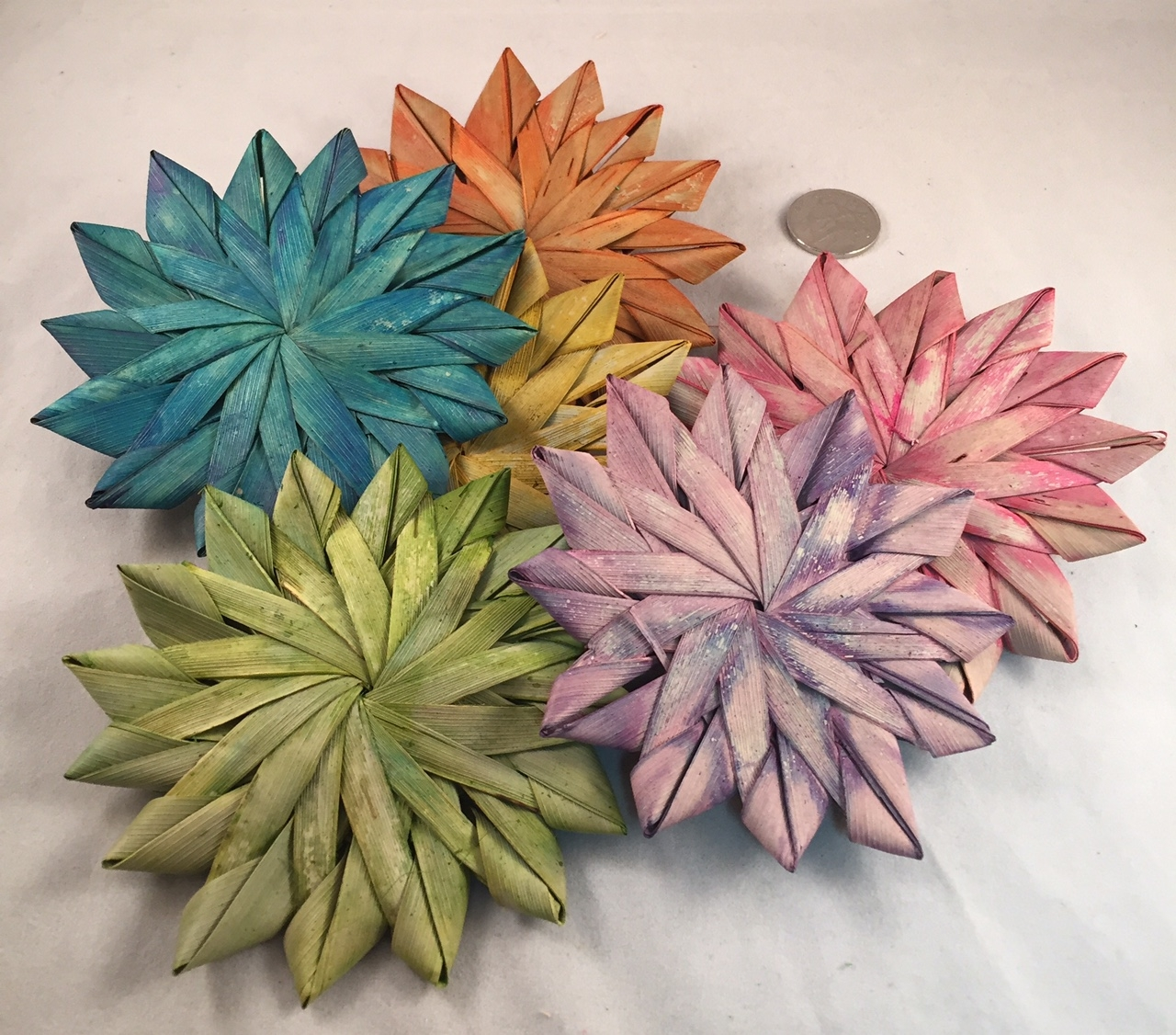 Intermediate Palm Flowers - Coloured - 4