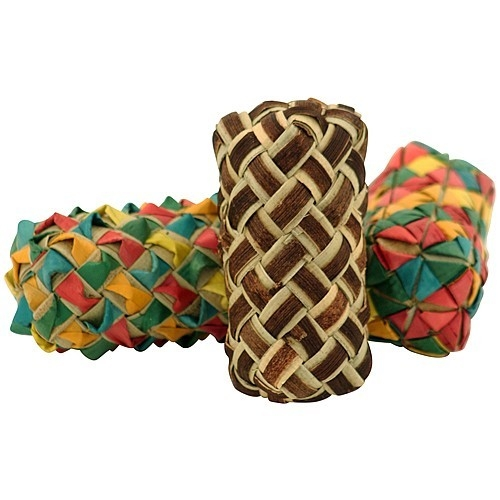 Planet Pleasures - Woven Cylinder Foot Toys - 3pk