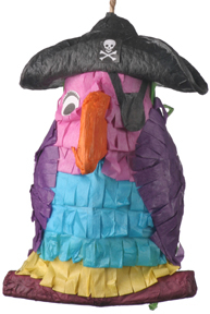 Pirate Parrot Pinata - Polly Wanna Pinata - Unfilled