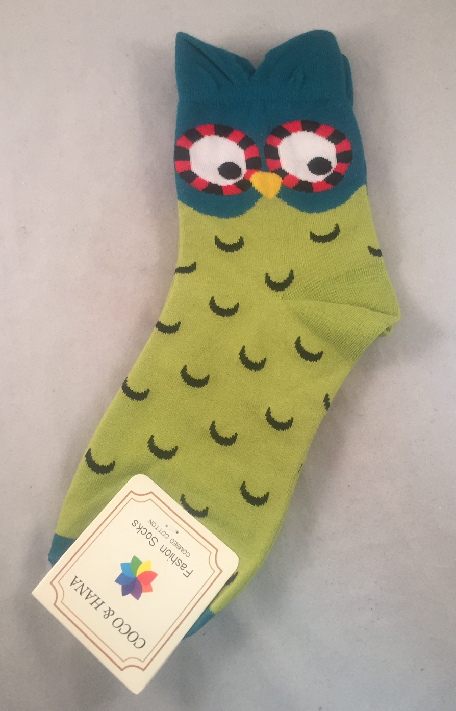 Owl Character Socks - Women's - Green