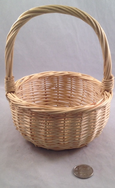 Willow Handle Basket - Natural - 5.5