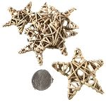 Mini Woven Vine Stars - Natural - 1.5