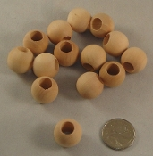 Wooden Beads - 20mm - Natural - 24pc