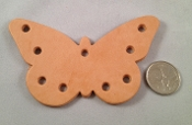 Leather Butterfly Toy Base - 1pc