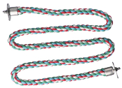 Zig Zag Cotton Rope Perch - Small - 3/8