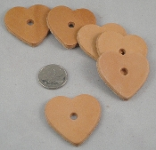 Leather Hearts - Small - 1-1/2