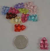 Bitty Bear Charms - Translucent - 3/4