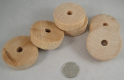 Wooden Cylinders - Natural - 2 x 1/2