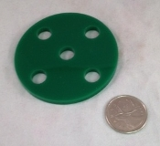 Acrylic Circle Base - 5 hole - 2-5/8