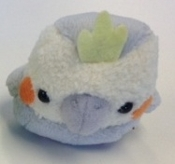 Grey Cockatiel - Mini Plush Beanbag Birdie