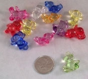 Transparent Bear Charms - 12pc