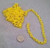 Mini Plastic Chain - Yellow - 1/2