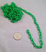 Mini Plastic Chain - Green - 1/2