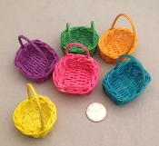 Mini Willow Baskets - Coloured - 4pc
