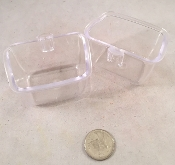 Transparent Rectangle Dish (Vertical Bars)