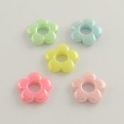 Flower Beads - Pearl - 3/4