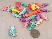 Fishies Charms - Pastel - 1.25