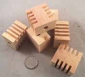 Canadian Pine Groovy Blocks - Natural - 1