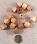 Wooden Baby Bobbins - Natural - 5/8