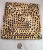 Holey Palm Mat - Natural - 8 x 8