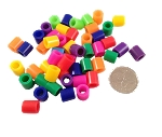 Thick Short Straw Beads - 50pc - 3/8