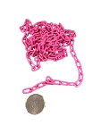 Mini Plastic Chain - Pink - 1/2