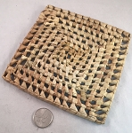 Holey Palm Mat - Natural - 6 x 6