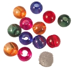 Acrylic Beads - 22mm - 12pc