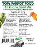 TOP's ALL-in-One Seed Mix - Organic - 1lb