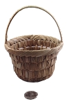 Woven Palm Basket with Handle - 4