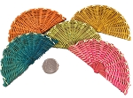 Mini Bamboo Fans - Coloured - 3pc