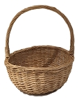 Willow Handle Basket - Natural - Biggest - 8