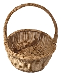 Willow Handle Basket - Natural - Medium - 7
