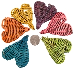 Mini Vine Hearts - Coloured - 200pc - SUPER BULK