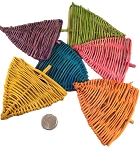 Vine Triangles - Coloured - 24pc - BULK