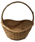Willow Oval Handle Basket - Natural - Biggest - 14