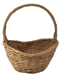 Willow Oval Handle Basket - Natural - Smallest - 11
