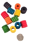Wooden Ripple Beads - Large - 6pc