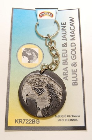 Acrylic Key Ring - Blue and Gold Macaw