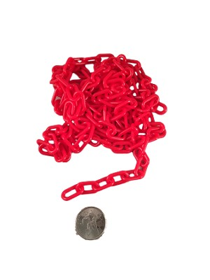 "Plastic Chain - Red - 3/4"" x 3mm - Per Foot"
