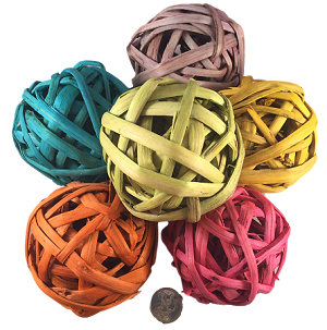"Bamboo Ball - 3.5"" - Coloured - Large"
