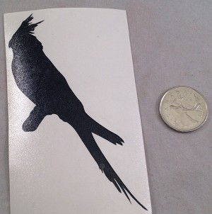 Cockatiel Silhouette Decal - Version 1