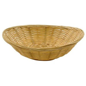 "Oval Bamboo Basket - 5.5"" - 1pc"