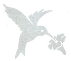 Hummingbird Window Alert Decals - 4pc
